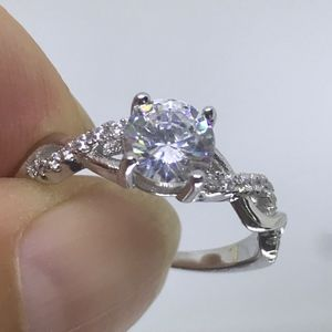 Jewelry - Size 6 - 1CT 3A CZ Platinum Plated S925 Ring